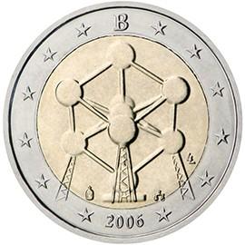 moeda de 2 euros bélgica 2006
