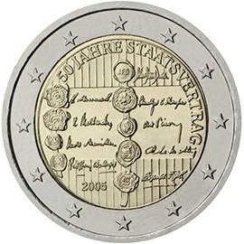 moeda de 2 euros austria 2005