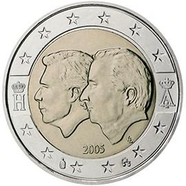 moeda de 2 euros bélgica 2005