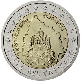 moeda 2 euros cidade vaticano