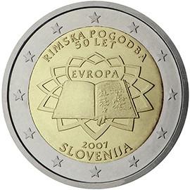 moeda de 2 euros Eslovénia 2007