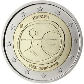 moeda de 2 euros espanha 2009