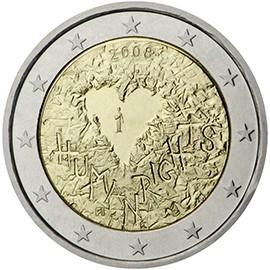 moeda de 2 euros finlandia 2008
