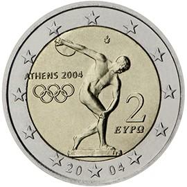 moeda de 2 euros Grécia 2004