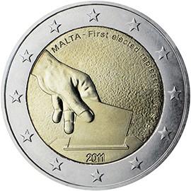 moeda de 2 euros malta 2011