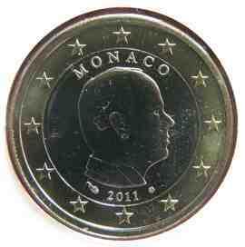 moeda de 1 euro monaco 2011