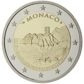 moeda de 2 euros monaco 2015