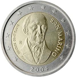 moeda de 2 euros são marino