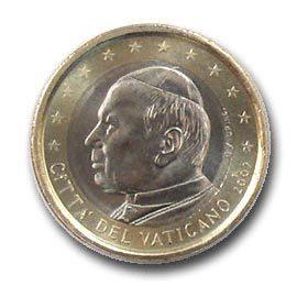 moeda de 1 euro vaticano 2002