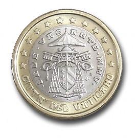 moeda de 1 euro vaticano 2005
