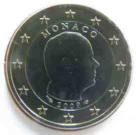 moeda de 1 euro mónaco 2009